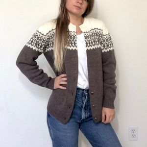 Sweaters - Vintage Amana Mills Fair Isle Sweater-made in USA
